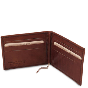 Money Clip View Of The Brown Money Clip Card Holder