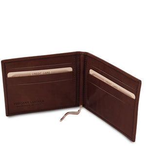 Money Clip View Of The Dark Brown Money Clip Card Holder