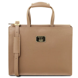 New Palermo Women's Saffiano Leather Briefcase