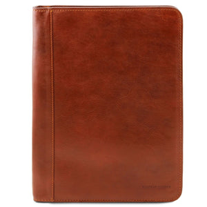 Front View Of The Honey Leather Document Case