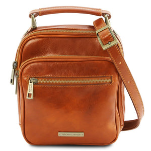 Front View Of The Honey Crossbody Bag Leather