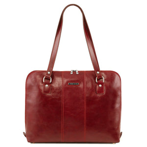 Front View Of The Red Women's Business Bag