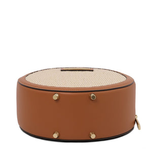 Underneath View Of The Cognac Round Handbag