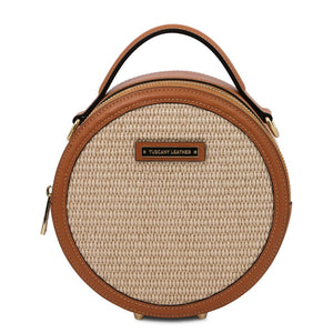 Front View Of The Cognac Round Handbag