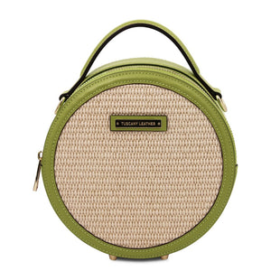 Front View Of The Green Round Handbag
