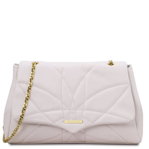 Front View Of The White Shoulder Bag