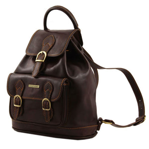Singapore Leather Backpack