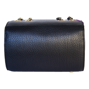 Rear View Of The Black Katie Small Leather Handbag