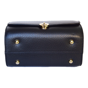 Underneath View Of The Black Katie Small Leather Handbag