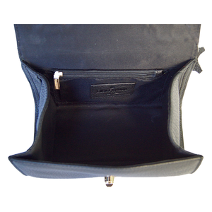 Internal View Of The Black Katie Small Leather Handbag