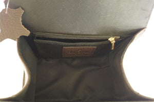 Internal View Of The Dark Brown Katie Small Leather Handbag