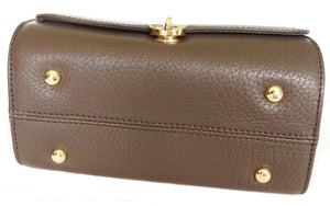 Underneath View Of The Dark Brown Katie Small Leather Handbag