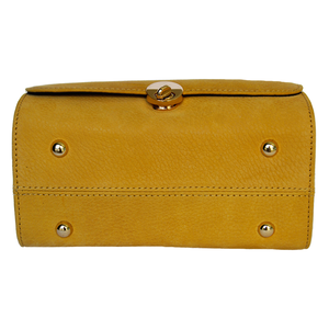 Underneath View Of The Yellow Katie Small Leather Handbag