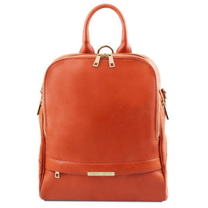 Front View Of The Brandy Womens Leather Backpack