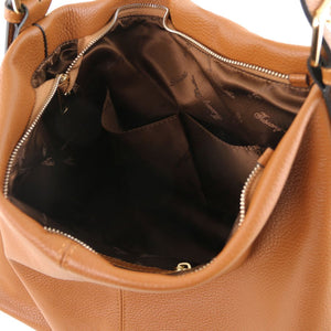 Soft Leather Hobo Shoulder Bag