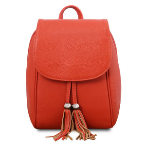 Front View Of The Brandy Womens Small Leather Backpack