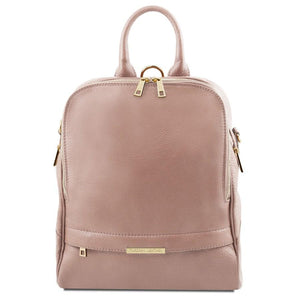 Front View Of The Nude Womens Leather Backpack