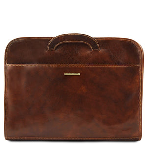 Sorrento Leather Document Briefcase