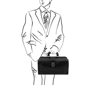 Sketch of Man Posing With The Black Doctors Bag