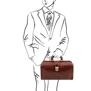 Sketch of Man Posing With The Brown Doctors Bag