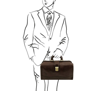 Sketch of Man Posing With The Dark Brown Doctors Bag