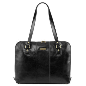 Front View Of The Black Women's Business Bag