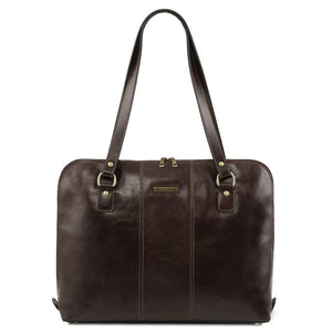 Front View Of The Dark Brown Women's Business Bag