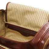 Internal View Of The Brown Mens Travel Bag Small