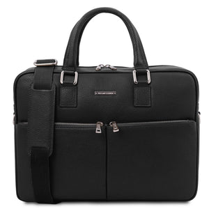 Front View Of The Black Professional Laptop Briefcase