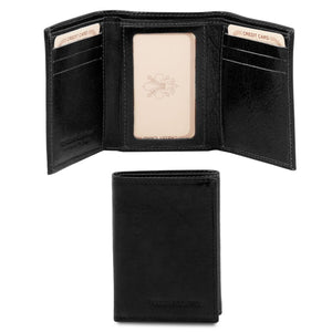 Front And Closed View Of The Black Mens Credit Card Holder