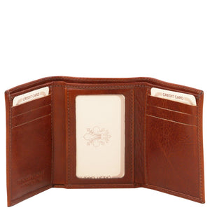 Front View Of The Brown Mens Credit Card Holder