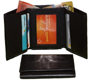 Front And Wallet Mens Black Leather Wallet