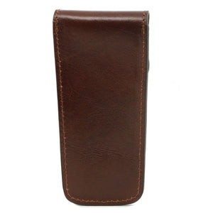 Rear View Of The Brown Leather Pen Pouch