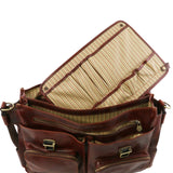 Additional Detachable Module View Of The Brown Italian Leather Briefcase
