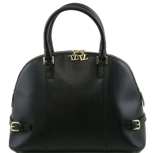 Front View Of The Black Casual Handbag
