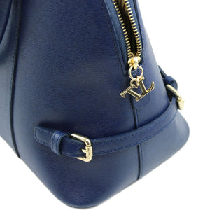 Buckles And Zip Closure View Of The Dark Blue Casual Handbag