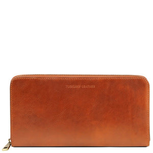 Front View Of The Honey Womens Leather Travel Wallet