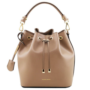 Vittoria Ruga Leather Bucket Bag