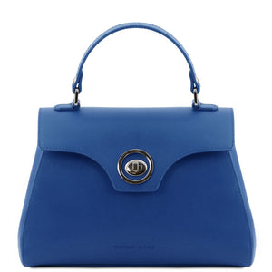 Front View Of The Blue Womens Duffle Bag