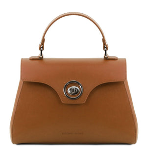 Front View Of The Cognac Womens Duffle Bag