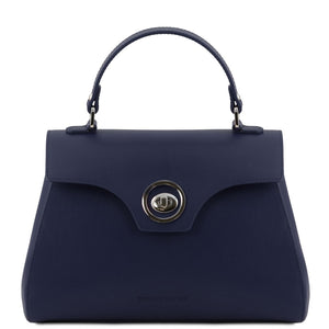 Front View Of The Dark Blue Womens Duffle Bag