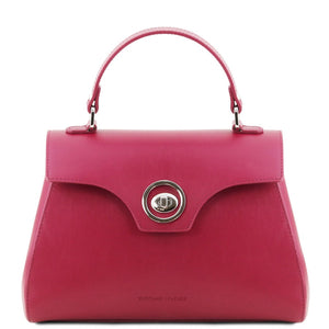 Front View Of The Magenta Womens Duffle Bag
