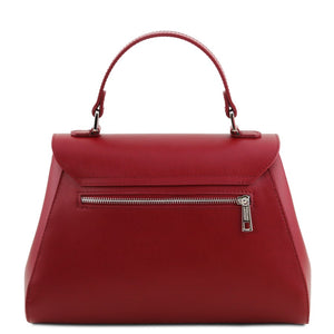 Rear View Of The Red Womens Duffle Bag