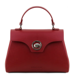 Front View Of The Red Womens Duffle Bag