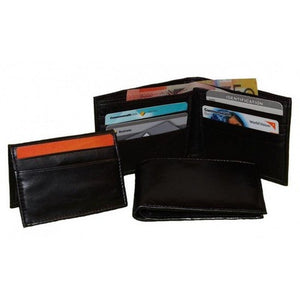 Removable Compartment View Of The Mens Black Leather Bifold Wallet