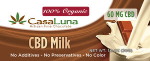 Casaluna Organic CBD Chocolate Bar