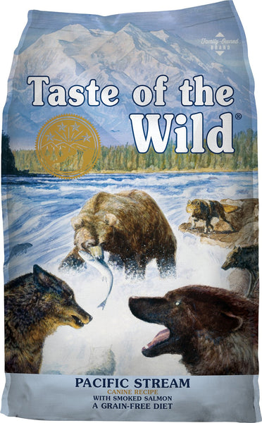 Taste of the Wild Dog Food- Pacific Stream Canine Formula - with Smoked Salmon