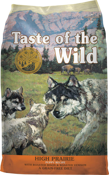 Taste of the Wild Dog Food- High Prairie Puppy Formula - with Roasted Venison & Bison