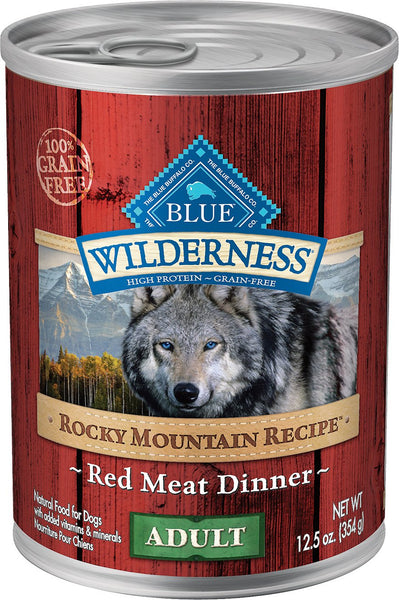 Blue Wilderness Rocky Mountain Recipes Canned Dog Food Case of 12/12.5oz