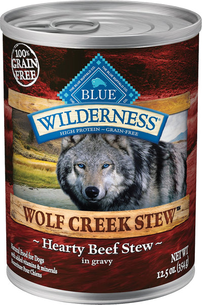 Blue Wilderness Wolf Creek Stew Canned Dog Food  Case of 12/12.5oz